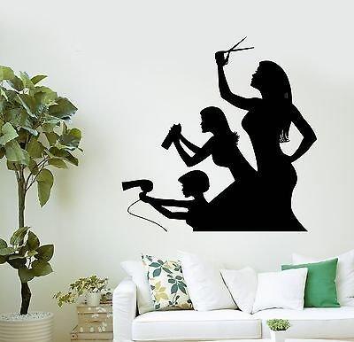 V-studios adesivo da parete, motivo: funny parrucchieri beauty salon hair stylist adesivi in vinile vs2923