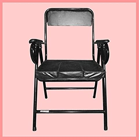 Commode chevet assise Chaise métal noir pliage personnes âgées désactivé balustrade avec toilettes mobiles