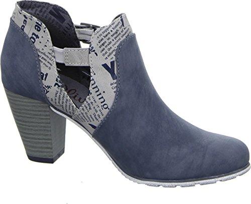 s.Oliver Stiefelette 5-25325 Damen Ankle Boots Blau Denim Comb