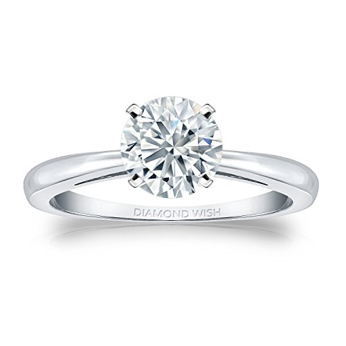 Diamond Wish  -  Platin 950  Platin Rundschliff   G-H Weißer Diamant - Tiffany Engagement Diamant-ring