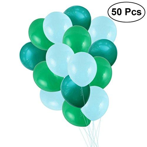 Toyvian La Fiesta de Globos de látex DE 12 Pulgadas favorece el Suministro DE 3,2 g 50 Piezas (Color Surtido)