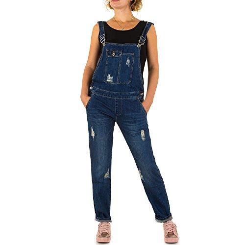 Damen Jeans Hose Jeanshose Destroyed Latz Blau XL