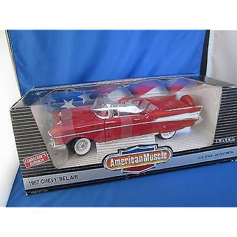Ertl American Muscle Matador Red 1957 Chevy Bel Air Convertible Die Cast Model 1:18 Scale by ERTL