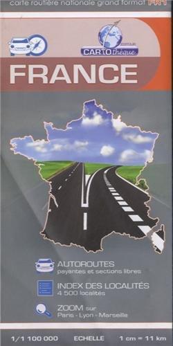 France, carte routière grand format : 1/1 100 000