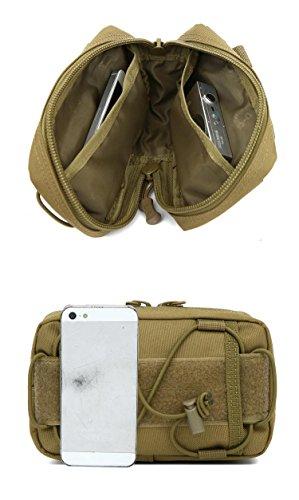 Lange Jun Fans Tasche 20L / Outdoor Tarnung Schulterbeutel-Frausporttasche Mann bag / digital camouflage / taktisches Paket Khaki