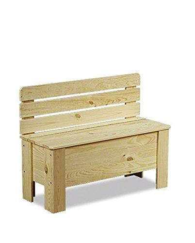 Truhe Holztruhe Holzbank Truhenbank Sitzbank für Kinder Spielkiste B-12 Serie B (B-12, unbehandelt)