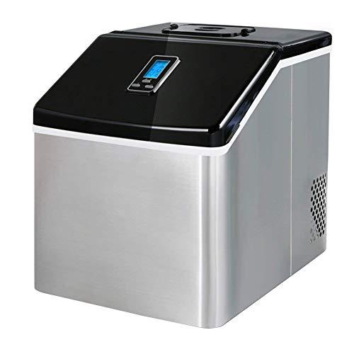 Wgwioo Eisbereiter, Tragbare Countertop Eismaschinen Macht 55 Pfund Eis Pro 24 Stunden, Wählbar 3 Würfelgröße