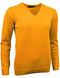 Ladies Brunton Lambswool V Neck Classic Golf Sweater