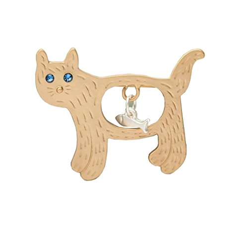 Kleines Katzen-T-Shirt Korsage-Brosche und Pin-Diamant-Set für Kinder Frauen Männer (1) (Kleine Charme-pins)