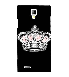 Princess Queen Crown 3D Hard Polycarbonate Designer Back Case Cover for Micromax Canvas Xpress A99