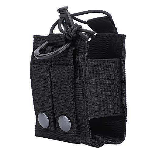 Dilwe Walkie Talkies Tasche, langlebig leichte Molle Pouch Walkie´Talkie Case Molle Radio Hüfttasche für den militärischen Einsatz im Freien(Schwarz)