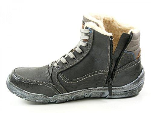 Mustang 4032-605 Schuhe Herren Stiefel Boots Grau
