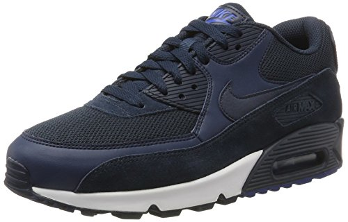 Nike Herren Air Max 90 Essential Low-Top, Blau (Armor NAV/Armor NAV-Blue Ja-White), 44.5 - Nike-ruckus
