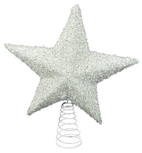 044690c26b0 26cm Blanca brillantes Tree Top estrellas - Decoraciones de Navidad -  Adornos.