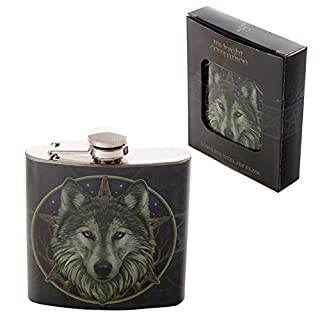 Attitude Clothing Lisa Parker Wolf Hip Flask