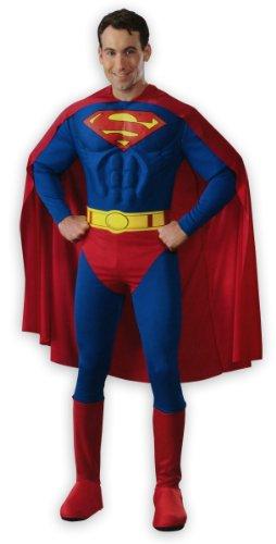 Superman Deluxe Muskel-Kostüm für Erwachsene Overa