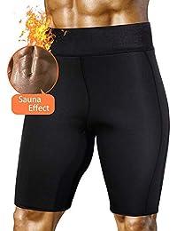 HuntDream Pantaloni da Sauna snellenti da Uomo Neoprene Caldo di Sudore per la Perdita di Peso Pantaloncini di Capris per Il Sudore del Corpo