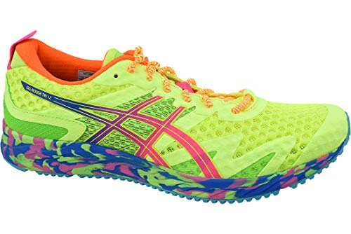 Asics Gel-Noosa Tri 12, Running Shoe para Hombre, Seguridad Amarillo/Rosa Fuerte, 46.5 EU