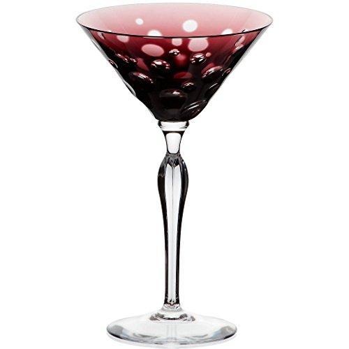 Martiniglas, Martinikelch, Cocktailkelch,BUBBLE, amethyst, Kristallglas, 20 cm, moderner Style (GERMAN CRYSTAL powered by CRISTALICA)