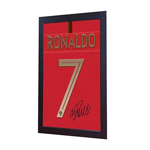 SGH SERVICES New Cristiano Ronaldo T-Shirt mit Autogramm, gerahmt, 100% Baumwolle -