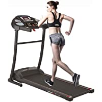 PremierFit T100 - Motorised Electric Treadmill/Folding Running Machine with Heart Rate Monitor, AUX Input and Speakers