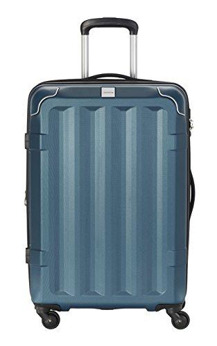 Travelite CORNER 4 Rollen Hartschalenkoffer Trolley Roll-Koffer in 3 Größen (55cm 67cm 75cm) und Farben Bagaglio a mano, 67 cm, 73 liters, Turchese (Petrol)
