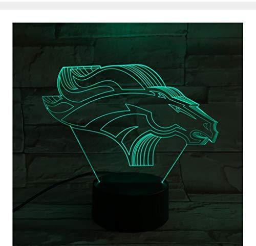 Denver Broncos Usb 3D Lampe 7 Farben Touch Schlafzimmer Lichter Atmosphäre Dekoration Licht Weihnachtsgeschenke