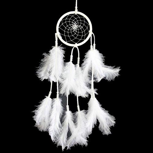 GWELL Traumfänger Dream Catcher Weiß Handgemacht Glücksbringer Indischen Mythologie Gute Träume