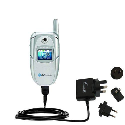 10W Gomadic Steckdosen-Ladegerät AC kompatibel mit Samsung SGH-E316 / E317 mit Energiesparmodus und TipExchange