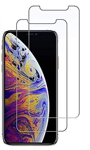 JETech Protector de Pantalla Compatible iPhone 11 Pro MAX y iPhone XS MAX 6,5', Vidrio Templado, 2 Unidades