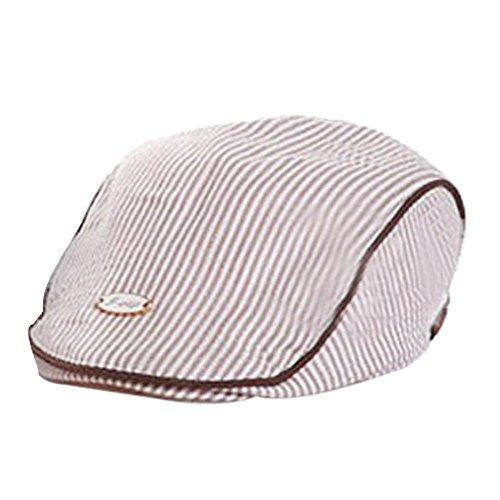 Baseball-hüte Deckel (Covermason Süß Baby Säugling Junge Mädchen Hüte Streifen Baskenmütze Deckel Frühling Sommer Baseball Cap (Khaki))