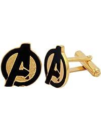 Exxotic Jewelz Designer Avengers Logo Captain America Cufflinks Wedding Cufflinks Gifts Set For Men & Boys
