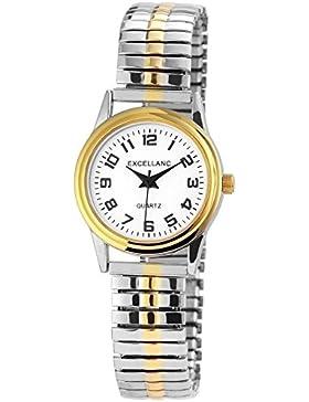 Trend-Wares Damen-Armbanduhr Weiß Silber Gold Analog Quarz Metall Modisch Damenuhr Zugband Arabische Ziffern
