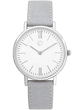 C-Collection by CHRIST Damen-Armbanduhr Analog Quarz One Size, weiß, grau