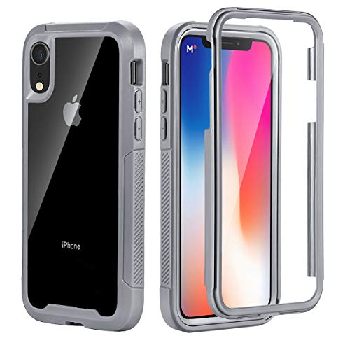 eaf1f830536 TSW iPhone XR Case, Full-Body Protection Tough Clear Bumper Case Drop-Proof
