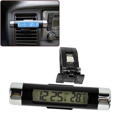 Livecity LCD-Autothermometer, LCD-Display, digital, mit Hintergrundbeleuchtung