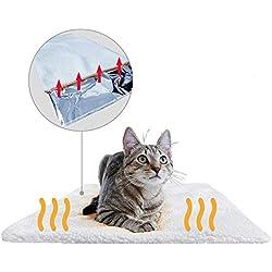 PiuPet® Coussin auto-chauffant pour chat & chien   Taille: 60x45cm   Sans électricité & batteries   Tapis/Couverture thermique   Innovant & écologique