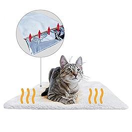 PiuPet® Coperta autoriscaldante per gatti e cani, Dimensioni: 60×45 cm, Senza elettricità e batterie, Tappetino riscaldante innovativo ed ecologico