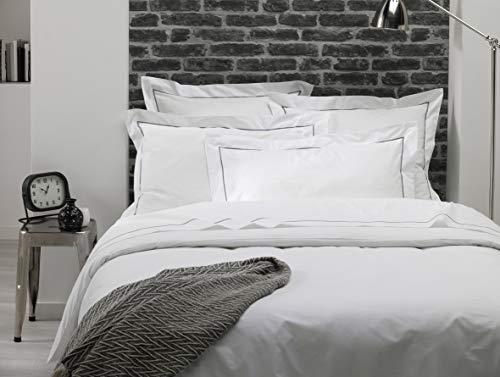 ELENA PARIS - Taie d'oreiller 65x65 cm - Blanc