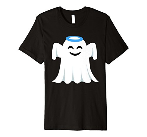 Ghost Emoji-Shirt Angel Halo Halloween-Kostüm Geschenk (Black Halo Kostüm)