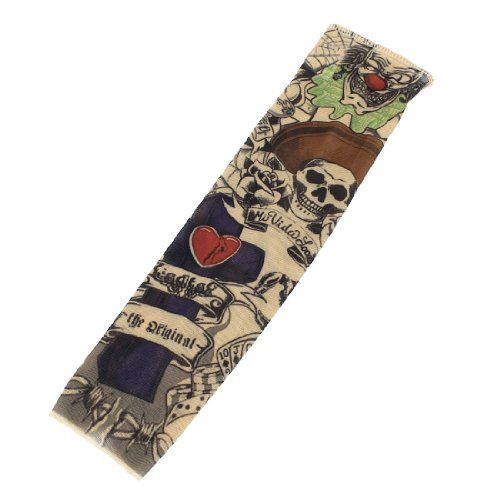 sourcing map Skull Scorpion dehnbarer Manschette Socke für -