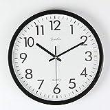 FunRun Modernos Elegante Reloj de pared silencioso de cuarzo 25 cm de diámetro para la decoración del hogar, 10 pulgadas