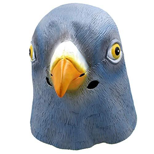 Pingenaneer Halloween-Taube Natur Latex Tier Kopf Maske