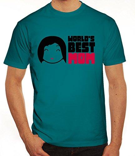 Geschenkidee Herren T-Shirt mit World's Best Mom Motiv von ShirtStreet Diva