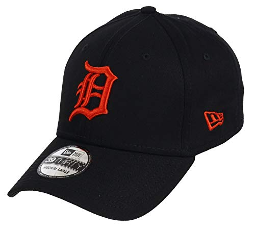 New Era 39Thirty MLB League Essential Detroit Tigers Cap schwarz/orange, S/M