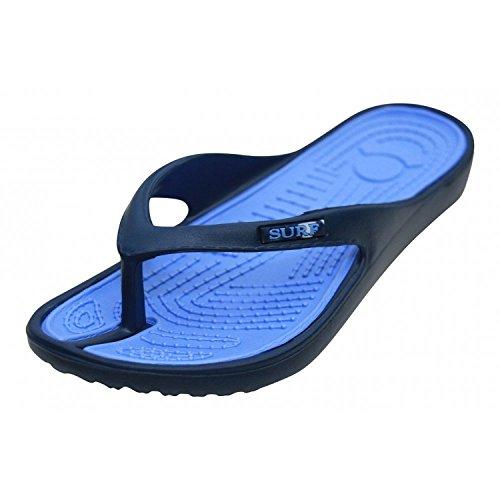 Foster Footwear ,  Unisex Kinder Unisex Erwachsene Damen Mädchen Durchgängies Plateau Sandalen Blau