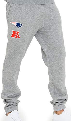 New Era - NFL New England Patriots Team Apparel Jogginghose - Grau Größe XL, Farbe Grau