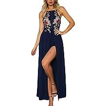 b861b6296d83 BoBoLily Donna Vestiti Lunghi Eleganti da Cerimonia Estivi Backless Vestito  da Sera Tute Ricamo Fiori con