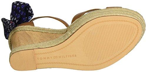 Tommy Hilfiger B1285eatrice 9c, Sandali con Zeppa Donna Beige (Cognac 606)