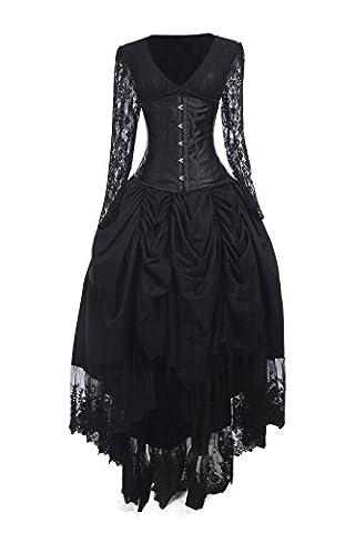 Adulte Femme Halloween - Nuoqi Femmes Gothique Robes Halloween Déguisements Adulte